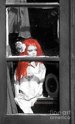 Photograph - New Orleans Red Haired Girl Fusion by John Rizzuto