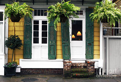 Photograph - New Orleans Row House by John Rizzuto