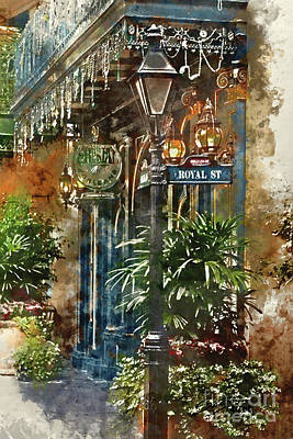 Painting - New Orleans - Royal Street by Shirley Stalter