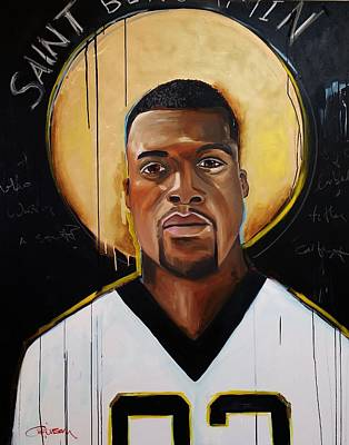 Negro Mixed Media - New Orleans Saint by Crimson Shults