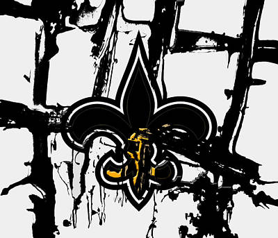 Patriot Mixed Media - New Orleans Saints 1b by Brian Reaves