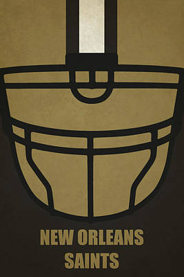 Football Painting - New Orleans Saints Helmet Art by Joe Hamilton