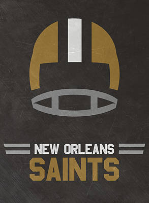 Orleans Mixed Media - New Orleans Saints Vintage Art by Joe Hamilton