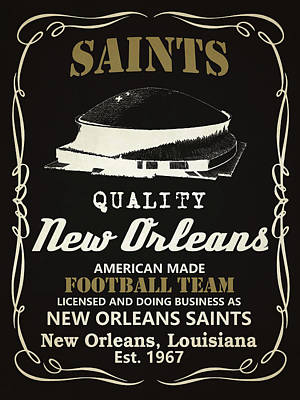 Mixed Media - New Orleans Saints Whiskey by Joe Hamilton