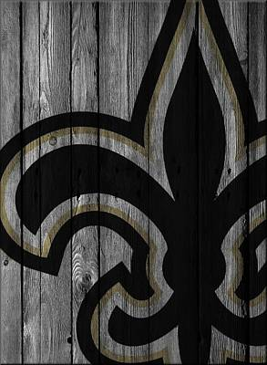 Photograph - New Orleans Saints Wood Fence by Joe Hamilton
