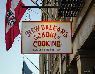 Photograph - New Orleans School Of Cooking by Allen Sheffield