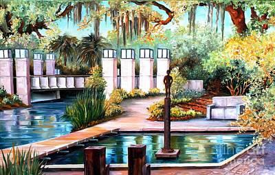 New Orleans Sculpture Garden Art Print by Diane Millsap