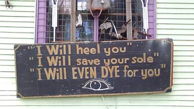 Photograph - New Orleans Shoe Store Sign by Michael Hoard