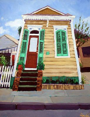 New Orleans Shotgun Houses Painting - New Orleans Shotgun House by Mark Rosenbohm