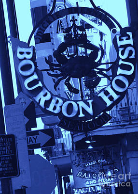 Photograph - New Orleans Signs In Blues by Carol Groenen