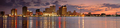 New Orleans Photograph - New Orleans Skyline At Dusk by Jon Holiday