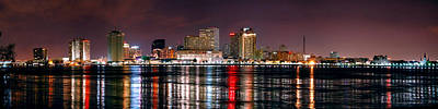 Big Easy Photograph - New Orleans Skyline At Night by Jon Holiday