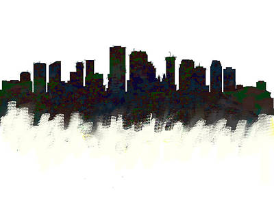New Orleans Skyline Dark  Art Print