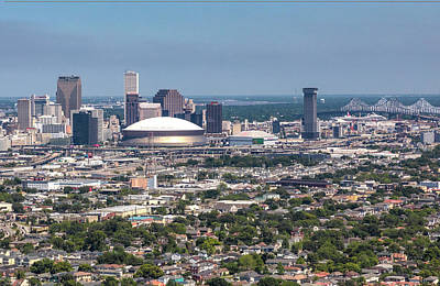 Photograph - New Orleans Skyline Looking East by Gregory Daley  MPSA