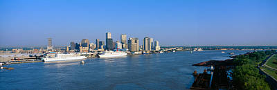 Mississippi River Scene Photograph - New Orleans Skyline, Sunrise, Louisiana by Panoramic Images