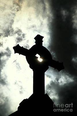 Photograph - New Orleans St. Joseph Catholic Church Rooftop Cross  by Michael Hoard