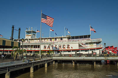 Photograph - New Orleans - Steamboat Natchez by Allen Sheffield