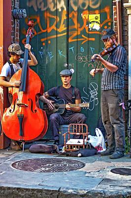 Street Performer Photograph - New Orleans Street Musicians by Steve Harrington
