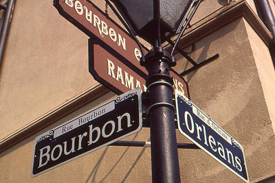 Photograph - New Orleans Street Signs by Art America Gallery Peter Potter