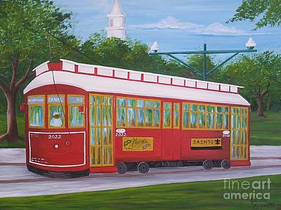 Painting - New Orleans Streetcar by Valerie Carpenter