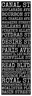 Martin Luther King Digital Art - New Orleans Streets by Susan Bordelon