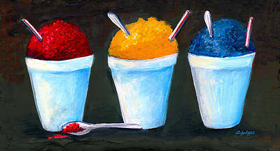Slate Painting - New Orleans Style Snowballs by Elaine Hodges