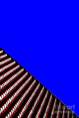 Photograph - New Orleans Terracotta Blue Wave Rooftop Urban Abstract by Michael Hoard