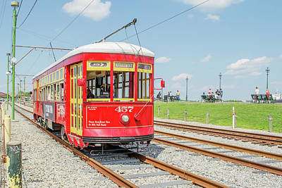Photograph - New Orleans Trolley by Allen Sheffield