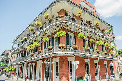 Photograph - New Orleans - Typical Building by Allen Sheffield