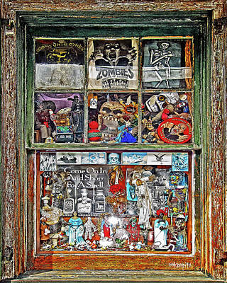 Digital Art - New Orleans Voodoo Shop Reverend Zombie by Rebecca Korpita