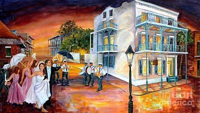 New Orleans Wedding Party Art Print by Diane Millsap