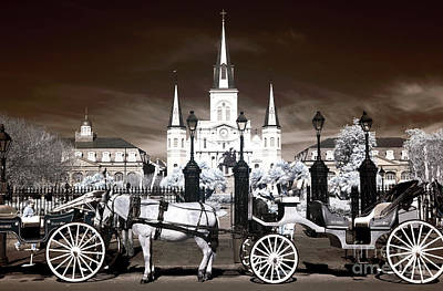 New Orleans Wonders Infrared Art Print by John Rizzuto
