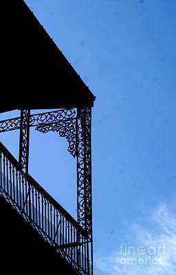Photograph - New Orleans Wrought Iron Blue Lace by Michael Hoard