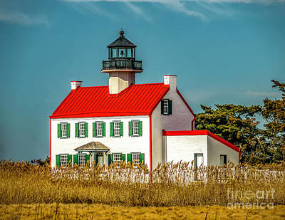 Photograph - New Paint On East Point Lighthouse by Nick Zelinsky