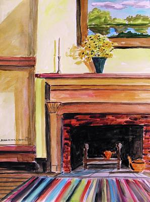 New Painting Over The Mantel Art Print by John Williams
