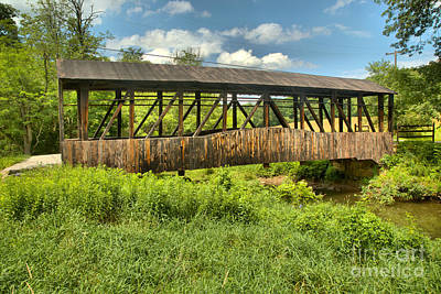 Photograph - New Paris Covered Bridge by Adam Jewell