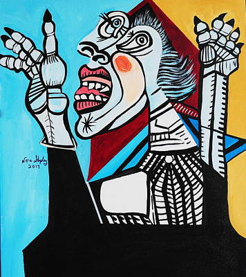 Painting - New Picasso  Having A Bad Day by Nora Shepley