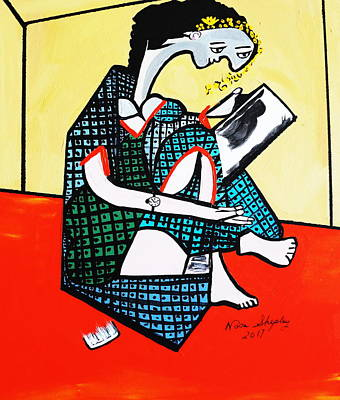 Painting - New Picasso, The Mirror by Nora Shepley