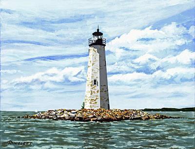 Comfort Painting - New Point Comfort Light-2 by Dennis  Rundlett