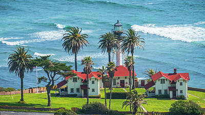 Photograph - New Point Loma Lighthouse San Diego California by Lawrence S Richardson Jr