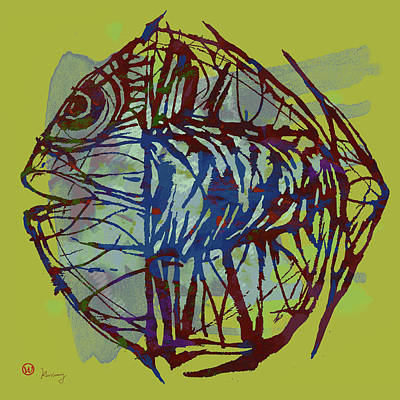 New Pop Art  -  Tropical Fish Poster Art Print by Kim Wang