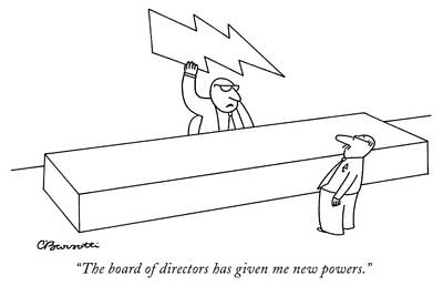 Drawing - New Powers by Charles Barsotti