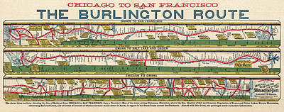 Photograph - New Railroad Route Chicago To San Francisco 1879 by Daniel Hagerman