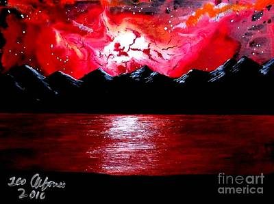 Painting - New Reddish Sky by Teo Alfonso