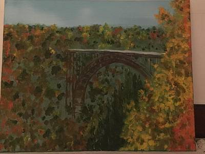 Painting - New River Gorge Bridge 2 by David Bartsch