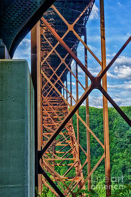 Photograph - New River Gorge Bridge Buttress by Thomas R Fletcher