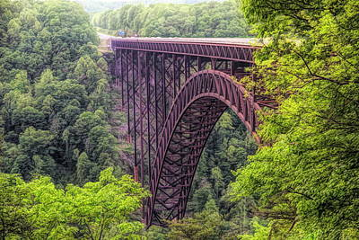 Mixed Media - New River Gorge Bridge by Dan Sproul