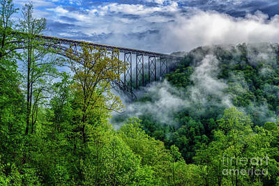 Photograph - New River Gorge Bridge Morning  by Thomas R Fletcher