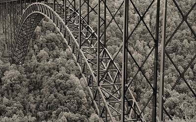 Photograph - New River Gorge Bridge Sepia by Dan Sproul