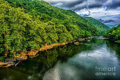 Photograph - New River Gorge Clouds by Thomas R Fletcher